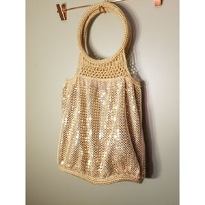 Chateau Sequin and Crochet Bag